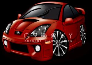 トヨタ・セリカのイラスト
