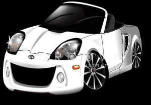 トヨタ・MR2のイラスト